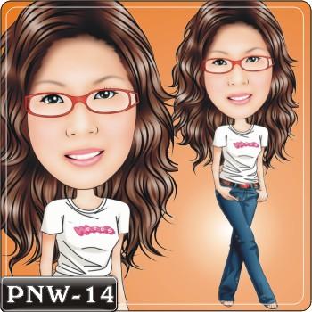 女生人像Q版漫畫PNW-14